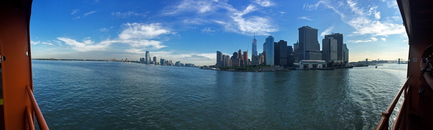 A view from the Staten Island Ferry in June
