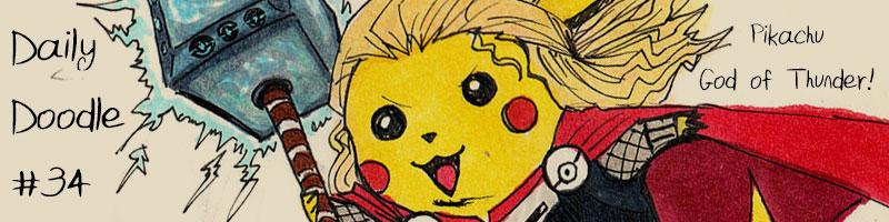 Daily-Doodle-thumbnail-thor-pikachu