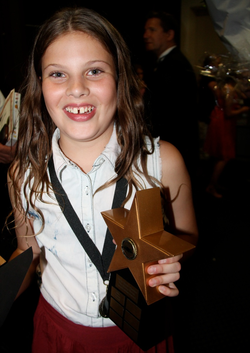 Amber with her award!