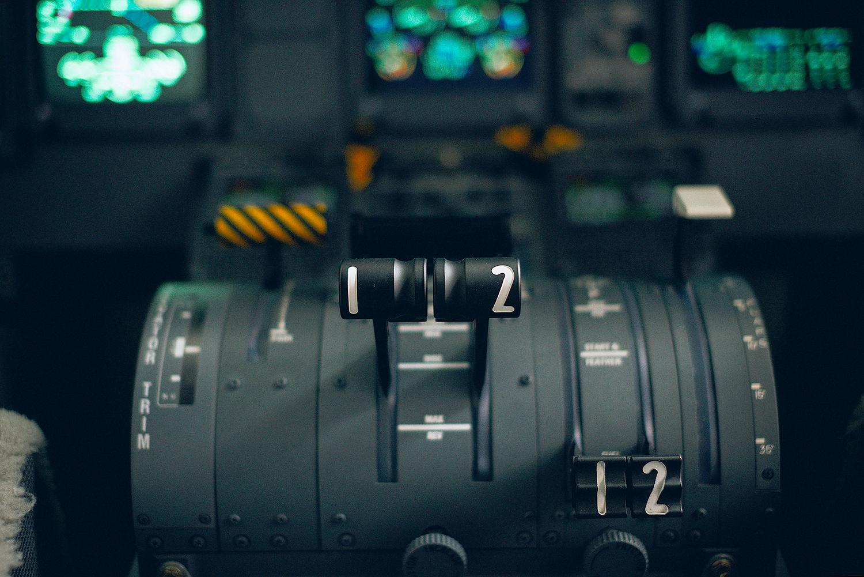 Toronto Photographer westjet Conference Airplane Controls