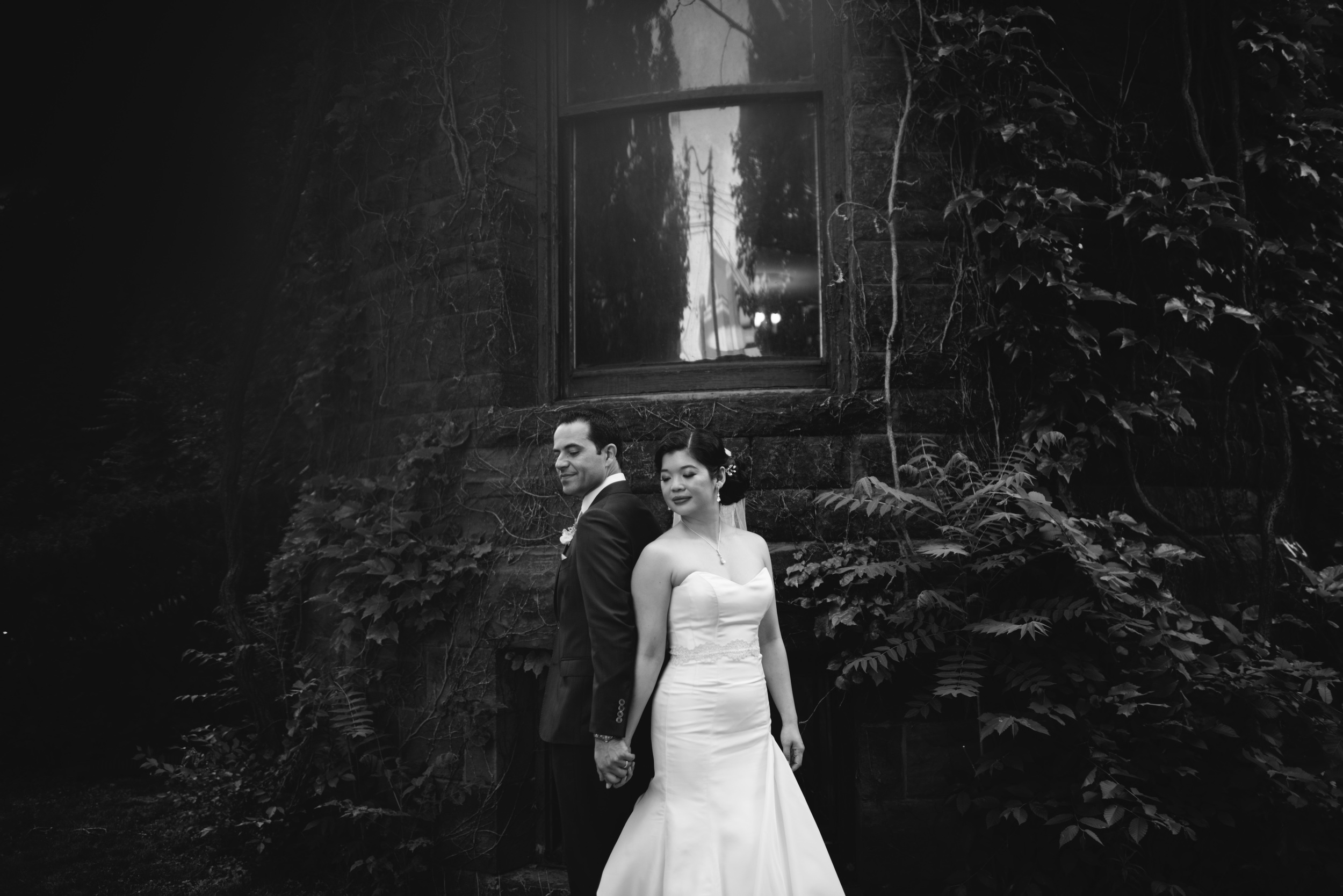 Portrait Photography - modern meets vintage at this Downtown Toronto Wedding