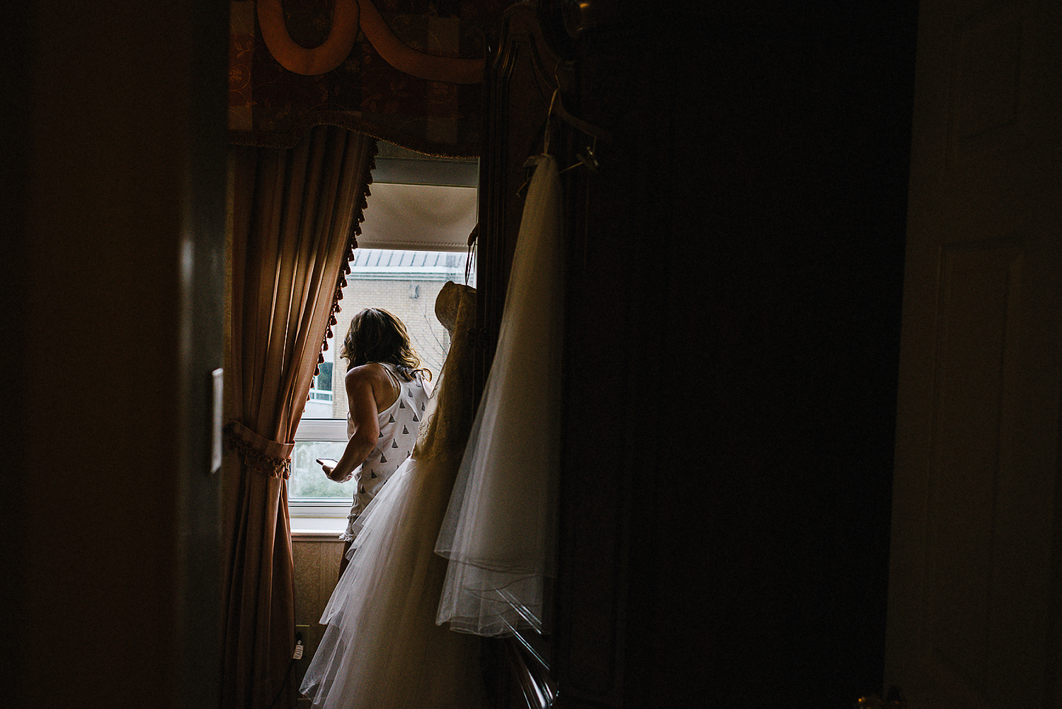 Toronto Ontario wedding photographer 3B Photography at Black Creek Pioneer Village intimate wedding bride getting ready interesting