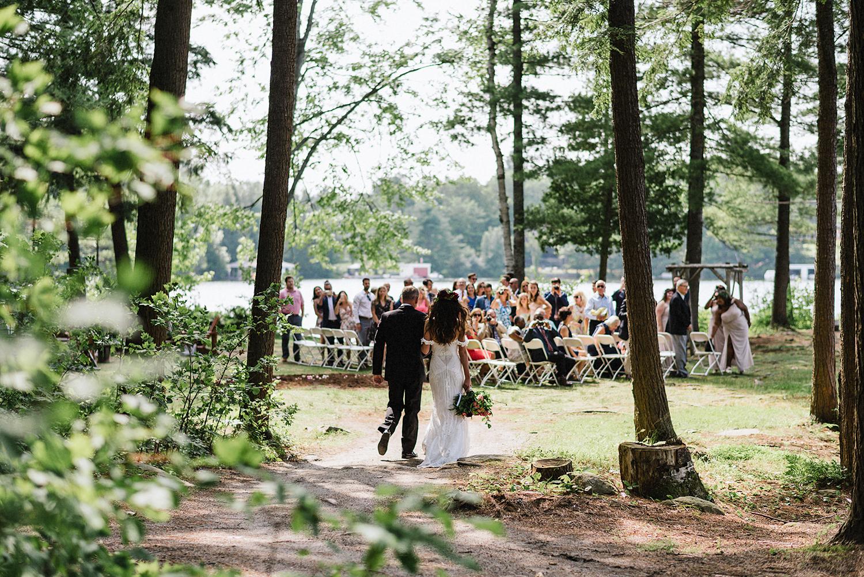 Muskoka-Cottage-Wedding-Photography-Photographer_Photojournalistic-Documentary-Wedding-Photography_Vintage-Bride-Forest-Wedding-Ceremony-Bride-Father-Entrance.jpg
