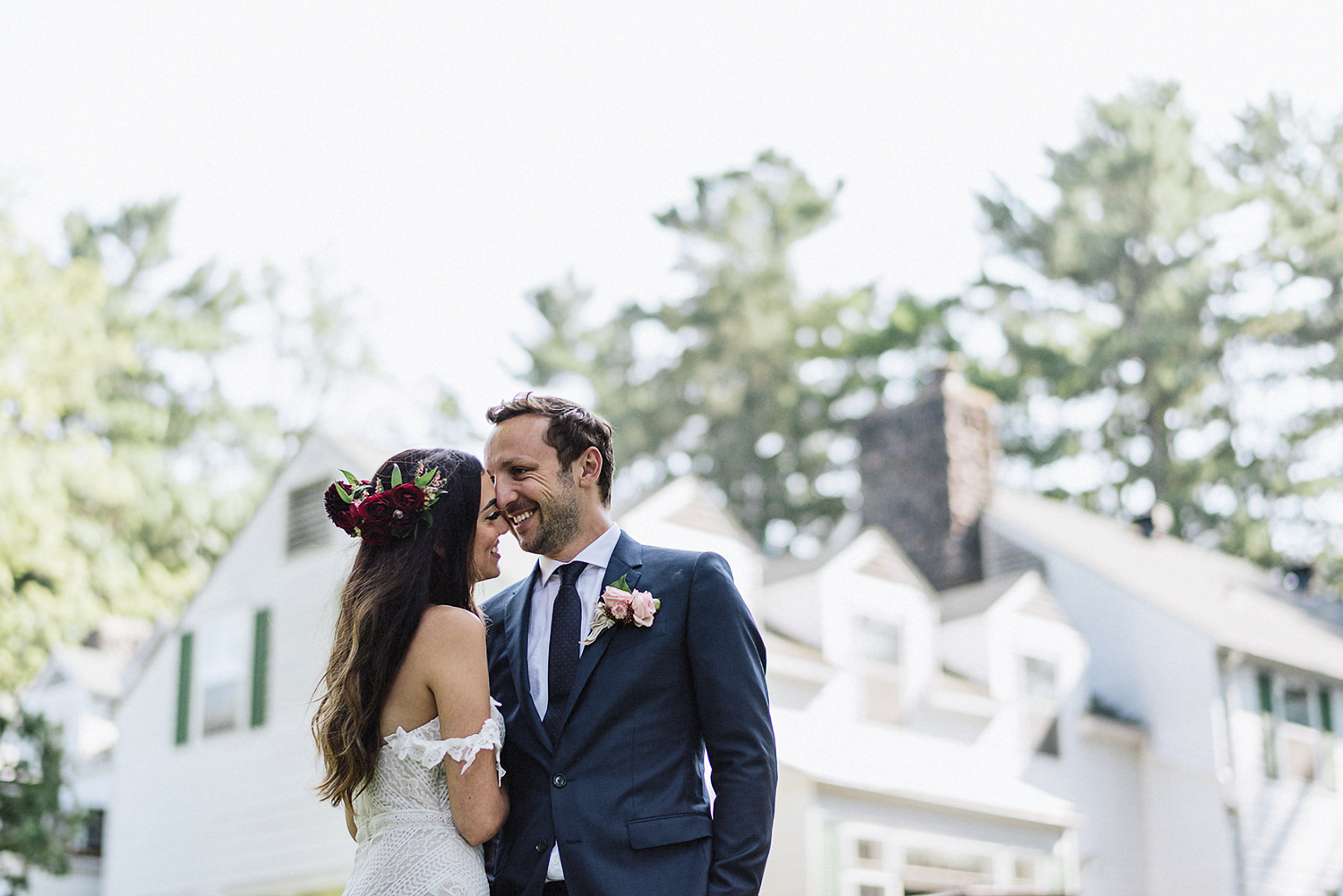 Muskoka-Cottage-Wedding-Photography-Photographer_Photojournalistic-Documentary-Wedding-Photography_Vintage-Bride-Lovers-Land-Dress_Rue-Des-Seins_Forest-Reception-Candid-Moment-Couple.jpg