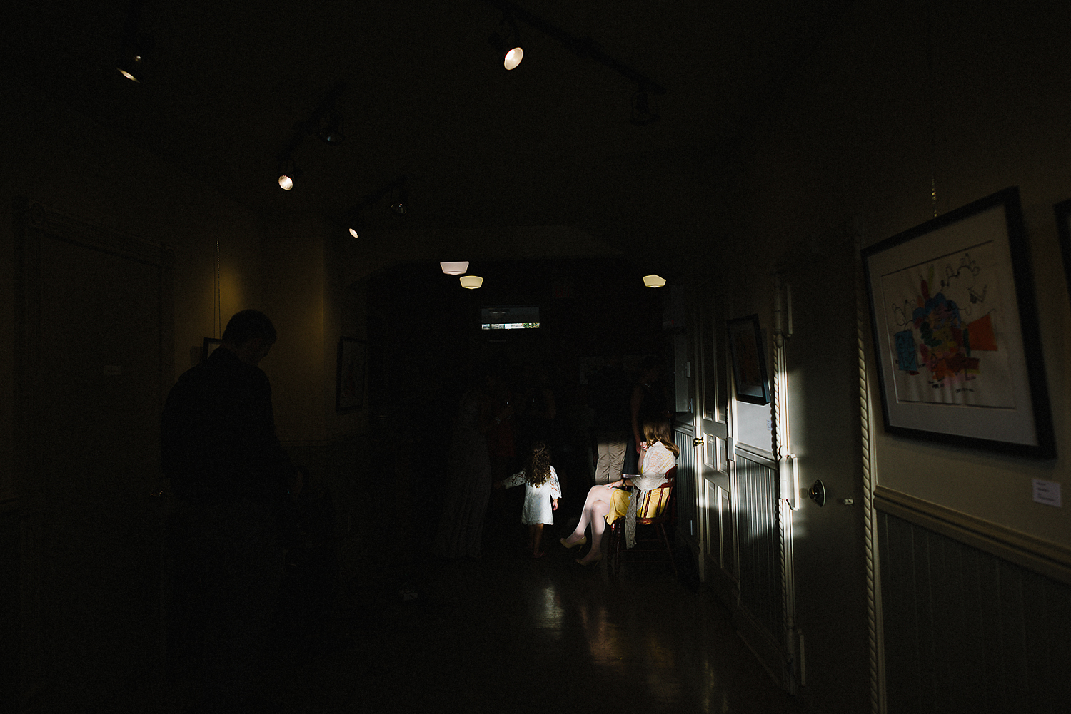 Best-Moody-Documentary-Wedding-Photography-Photojournalism-Vintage-Small-Town-Chapel-Wedding-Toronto-Ontario_Reception-Venue-Old-Town-Hall-Sunlight.jpg