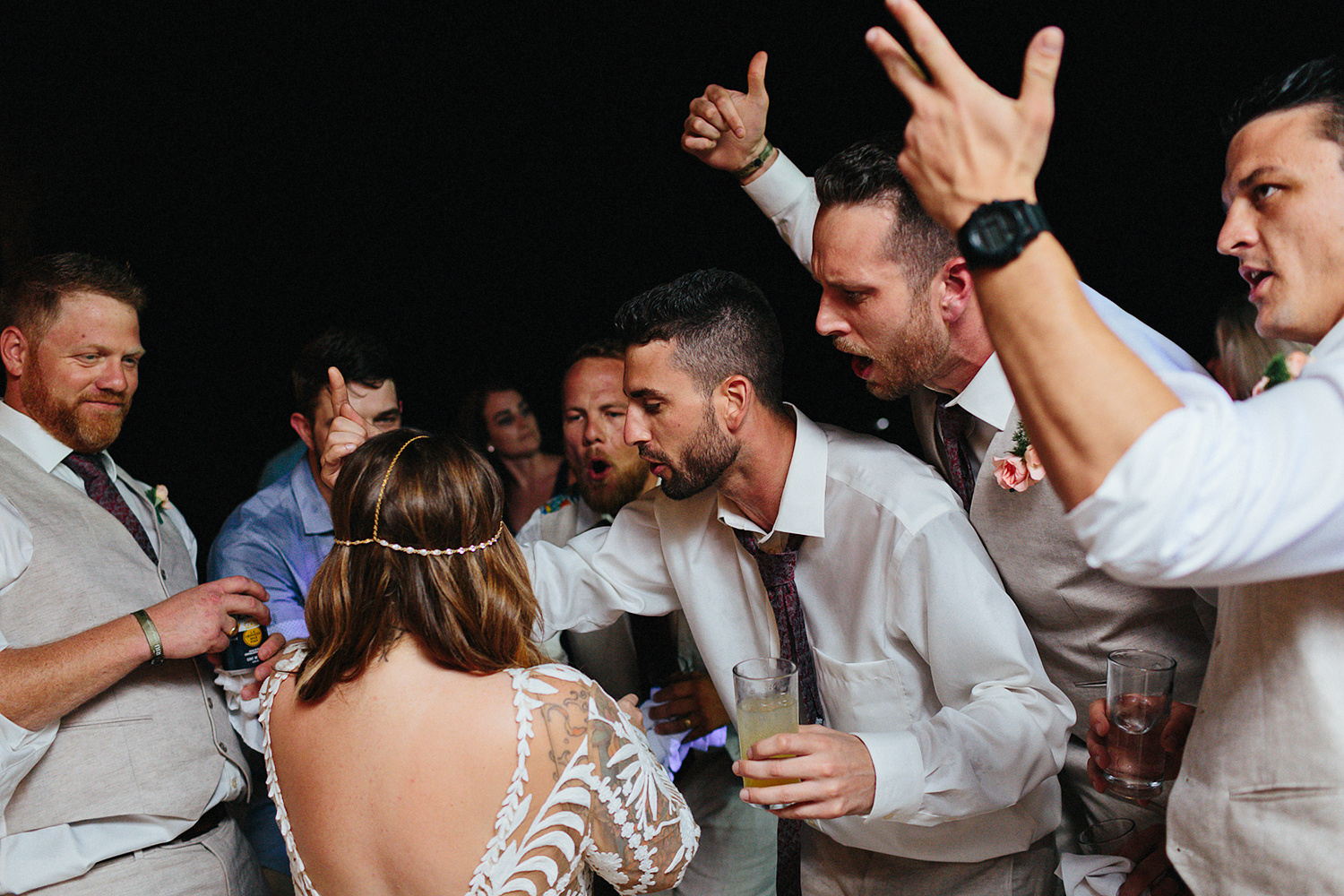cabo-san-lucas-junebug-weddings-green-wedding-shoes-toronto-wedding-photographer-3b-photography-ventanas-private-club-mexico-reception-night-real-moments-party-dancing-good-times-celebrate-rapping.jpg