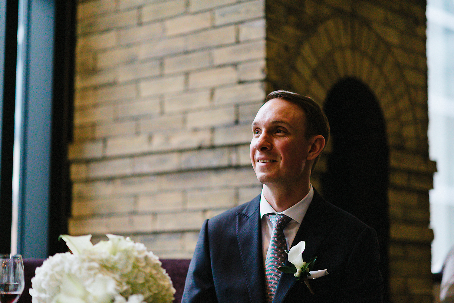 Best-Wedding-Photographers-Toronto_-Urban-City-Wedding-Photography-Downtown-Toronto-Photographer_Vintage-Bride-and-Groom-Details_The-Chase-Wedding-Venue_Candid-Photojournalistic-Documentary-Reception-Restaurant-Candid-Groom-Reaction.jpg