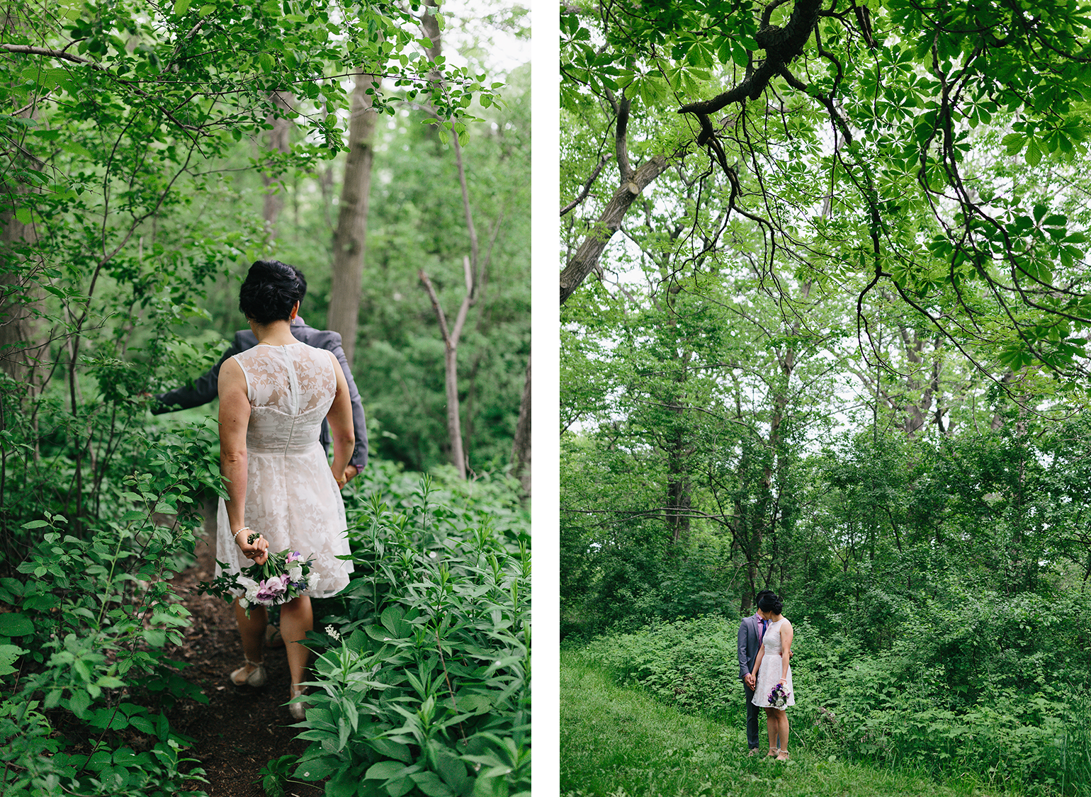 spread-2-high-park-colborne-lodge-intimate-small-elopement-junebug-weddings-outdoor-wedding-bride-and-groom-portraits-cabin-cottage-like-vibes-greenery-forest-trees-couples-photos-romantic-walking-short-wedding-dress.jpg