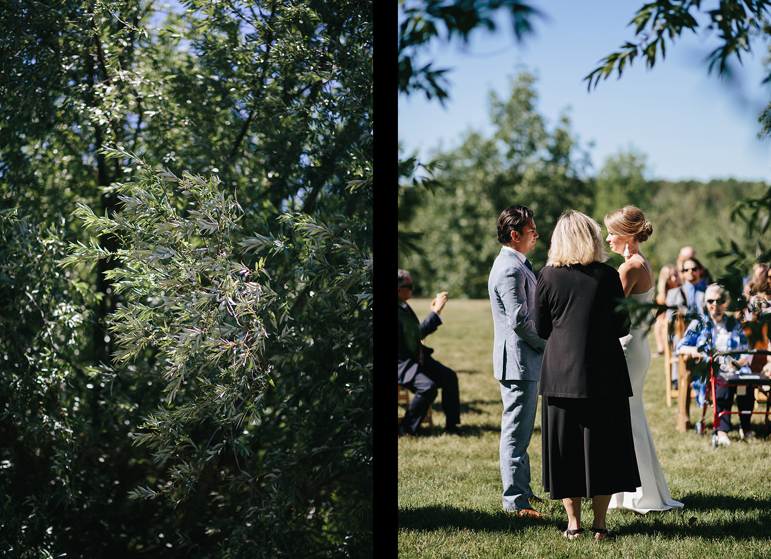 spread6-Best-Documentary-photojournalistic-wedding-photographers-Toronto-Ontario-Canada-Rural-Country-House-Backyard-Wedding-Ceremony-Vintage-aesthetic-bride-and-groom-saying-vows-under-willow-tree-at-childhood-home.jpg