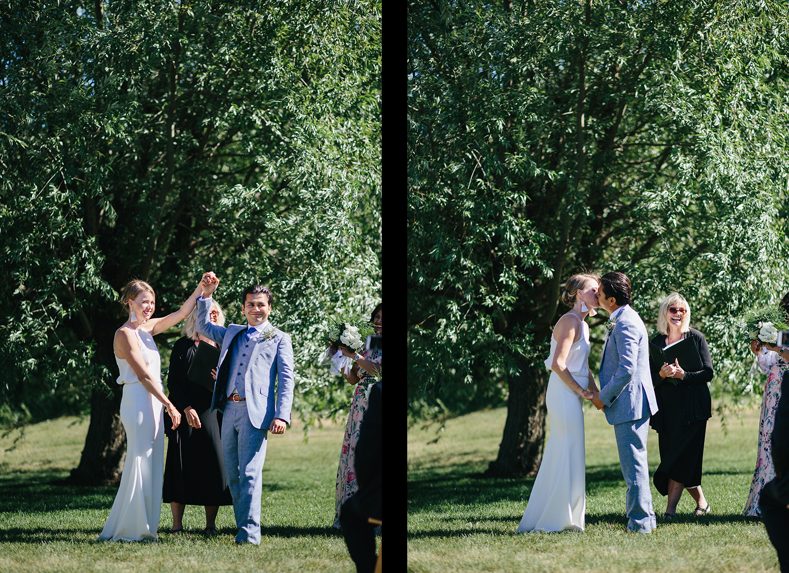 spread-9-Best-Documentary-photojournalistic-wedding-photographers-Toronto-Ontario-Canada-Rural-Country-House-Backyard-Wedding-Ceremony-Vintage-aesthetic-bride-and-groom-just-married-first-kiss.jpg