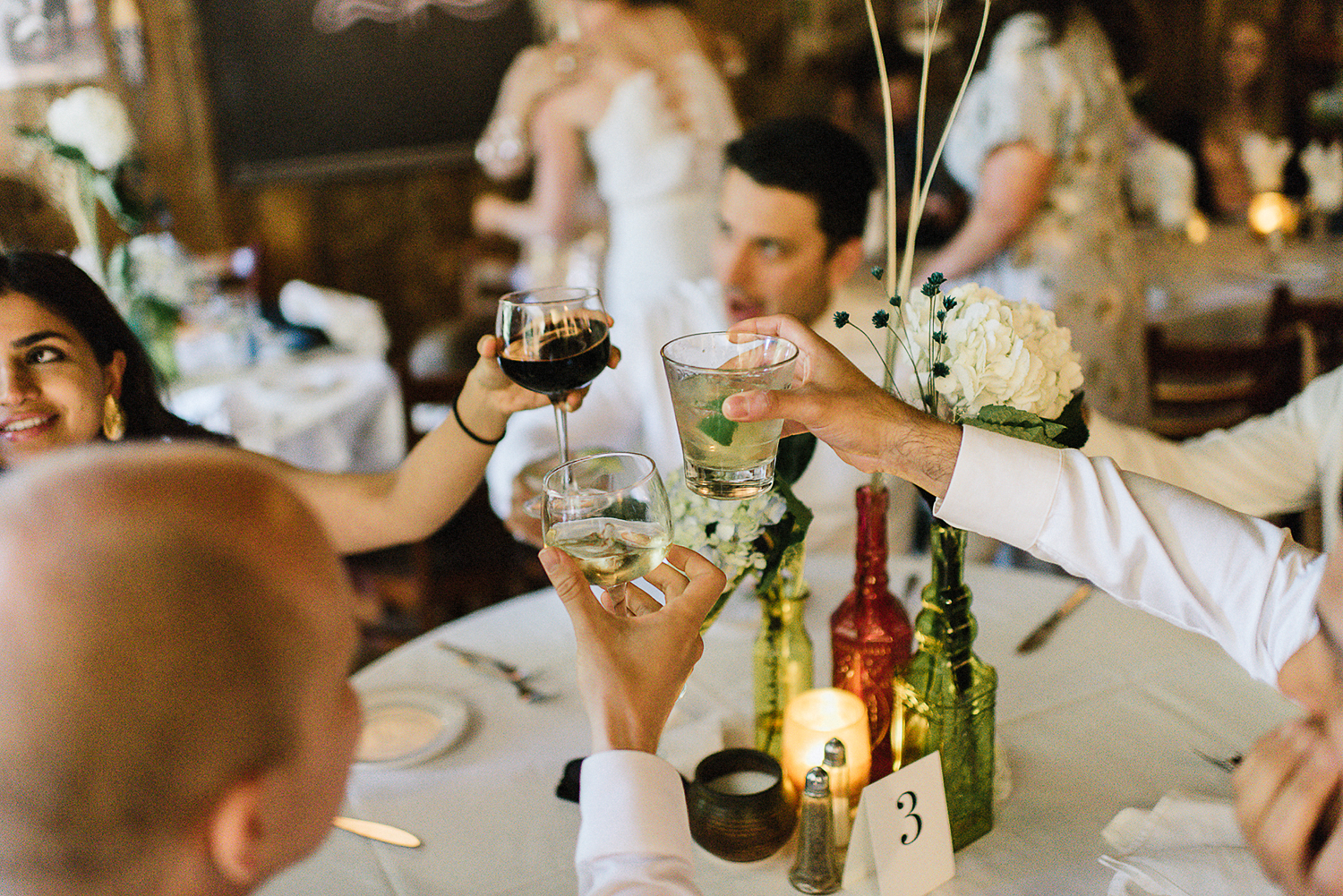 Country-Side-Wedding-Reception-at-private-Inn-restaurant-Vintage-Bride-and-Groom-Toronto-Wedding-Photographers-Venue-Vintage-Bar-guest-cheers.jpg