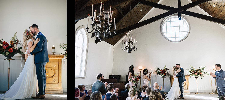 19-Best-Wedding-Venues-Toronto-Vintage-Country-Home-Doctors-House-Kleinburg-Analog-Film-Wedding-Photography-Best-Wedding-photographers-Toronto-3B-Photo-Ceremony-Vintage-Chapel-Bride-and-groom-first-kiss.jpg