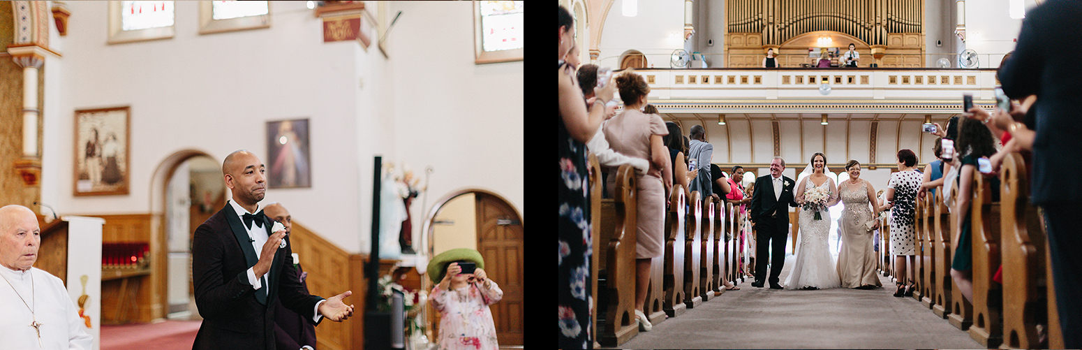 xpread-16-Church-Ceremony-downtown-toronto-bloor-west-Vintage-Wedding-Groom-and-Bride-Candid-Photojournalism-Documentary-Wedding-Photographers-Toronto-bride-walking-down-the-aisle-with-her-parents.jpg