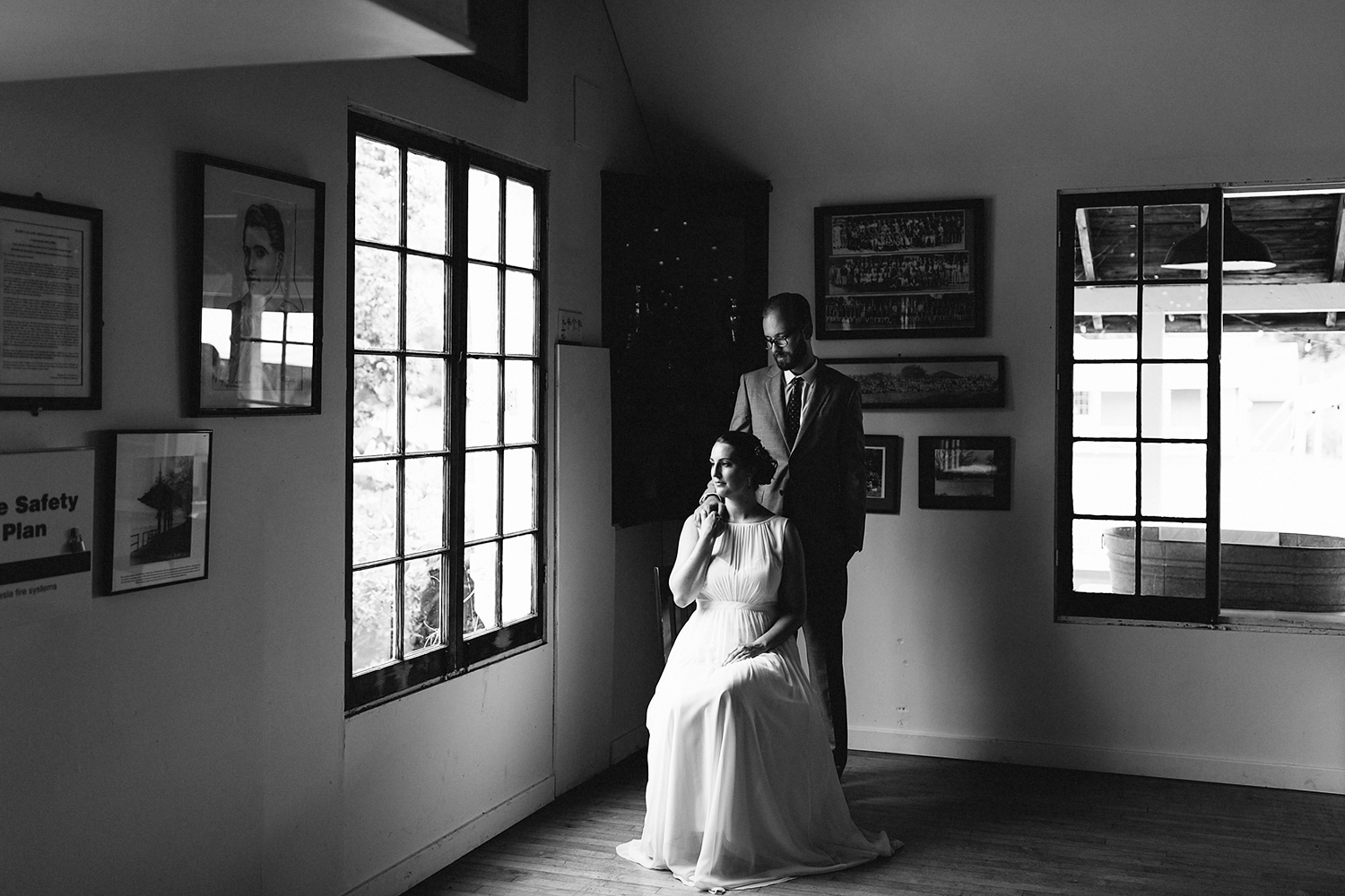 Toronto-Island-Wedding-Toronto-Best-Film-Wedding-Photographers-3b-photography-analog-photography-wards-island-clubhouse-details-old-photographs-vintage-rustic-venue-bride-and-groom-formal-portrait-moody-romantic.jpg