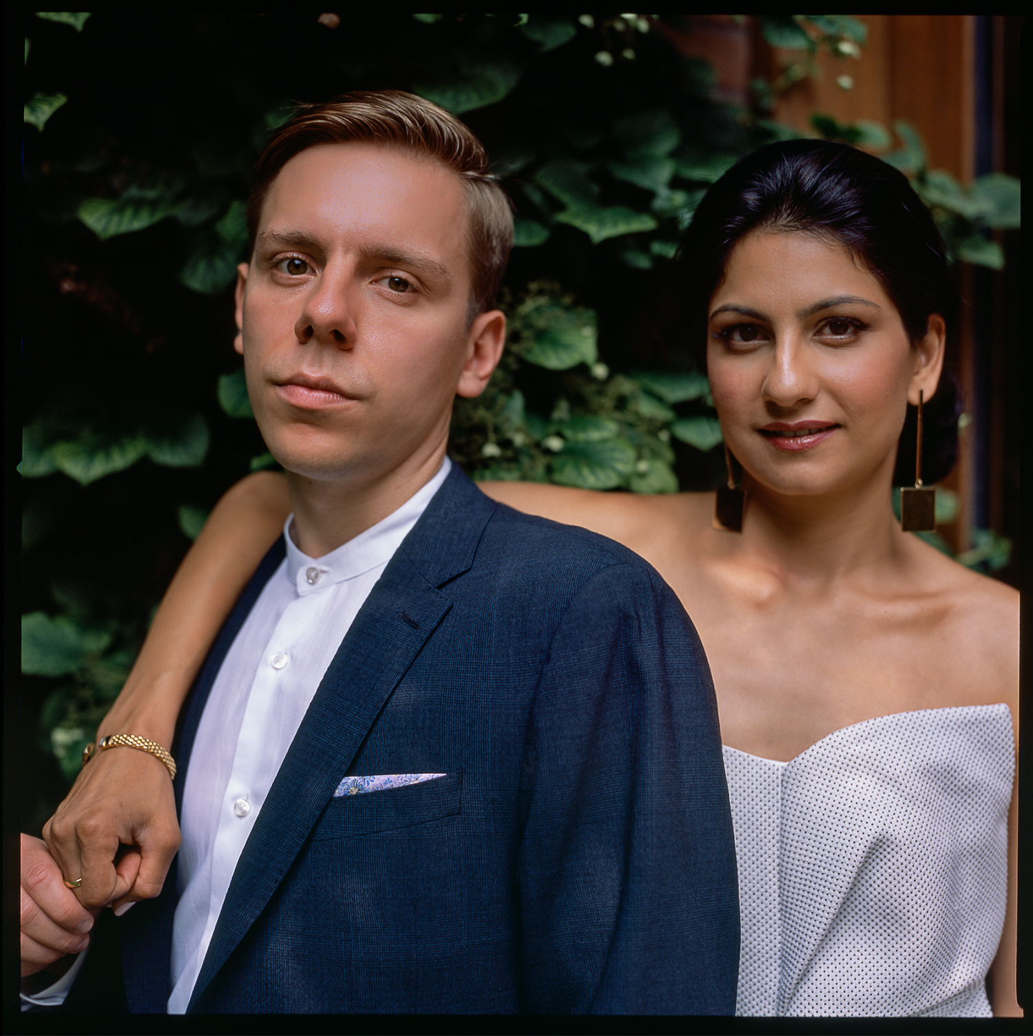 Best-analog-film-wedding-photographers-Toronto-Ontario-Best-Wedding-Photography-Analog-Film-Hasselblad-501cm-Fuji-400h--bride-in-a-white-jumpsuit-groom-no-tie.jpg