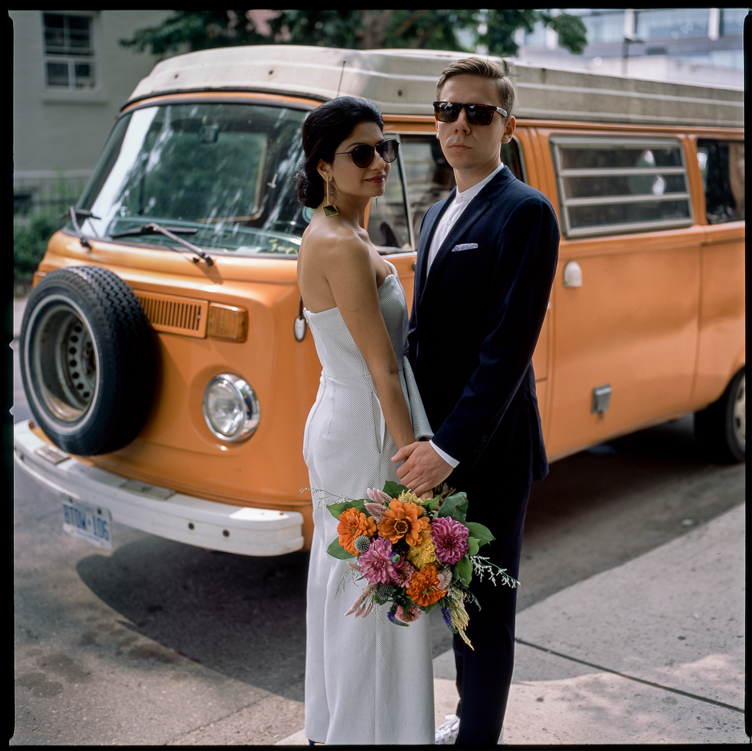 Best-analog-film-wedding-photographers-Toronto-Ontario-Best-Wedding-Photography-Analog-Film-Hasselblad-501cm-Fuji-400h-Vintage-VW-Van-1970s-Bride-white-jumpsuit-Style.jpg