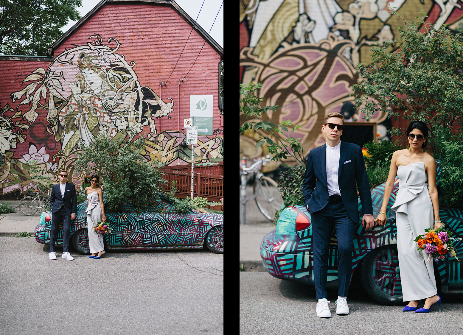 11-Intimate-Toronto-Pop-Up-Elopement-Downtown-Urban-Kensington-film-analog-photography-toronto-wedding-photographers-alternative-hipster-bride-and-groom-badass-candid-photos-with-garden-car-badass-cool-raybands.jpg