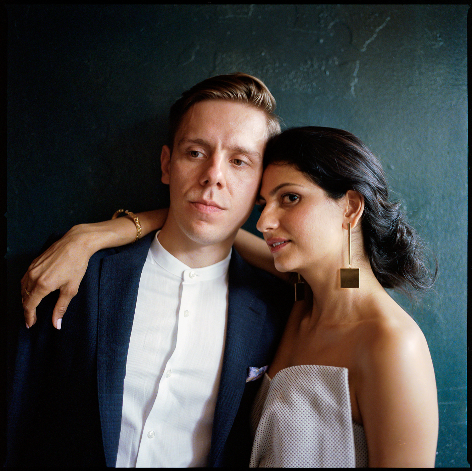 Best-Documentary-Wedding-Photographers-Toronto-Analog-Film-Photographer-Downtown-Kensington-Market-City-Bride-Bridal-Jumpsuit-Style-Fuji-Pro-400h-6x6-Portrait-of-bride-and-groom-timeless.jpg