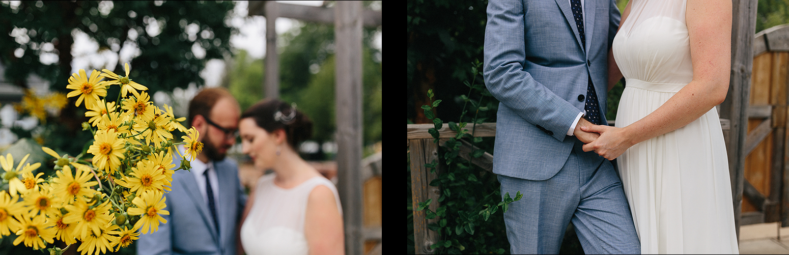 2-Toronto-Island-Wedding-Toronto-Best-Film-Wedding-Photographers-3b-photography-analog-photography-wards-island-clubhouse-details-old-photographs-vintage-rustic-venue-bride-and-groom-in-garden-moody-romantic-portrait-yellow-flowers.jpg