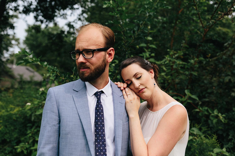 Toronto-Island-Wedding-Toronto-Best-Film-Wedding-Photographers-3b-photography-analog-photography-wards-island-clubhouse-junebug-weddings-vintage-rustic-venue-bride-and-groom-in-garden-moody-romantic-couples-potraits-natural-candid.jpg