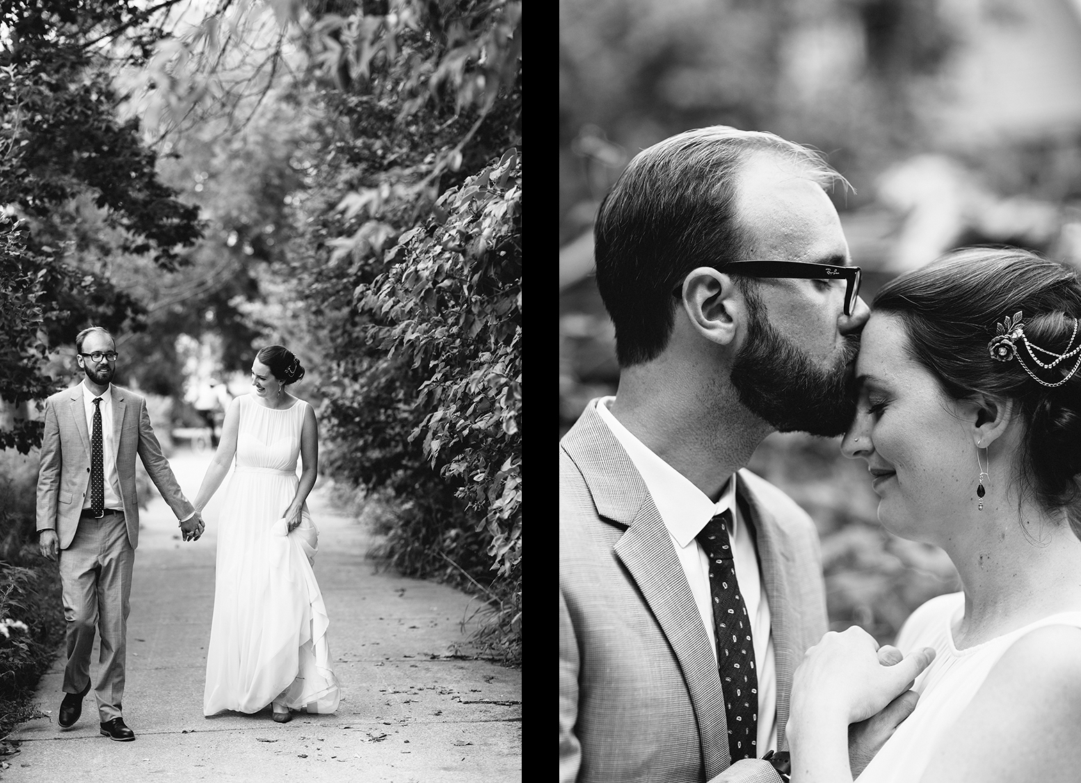 16-Toronto-Island-Best-Film-Wedding-Photographers-3b-photography-analog-photography-wards-island-clubhouse-green-wedding-shoes-vintage-venue-bride-and-groom-photos-intimate-candid-documentary-moments-flowers-pickett-fence-walking-laughing-bw.jpg