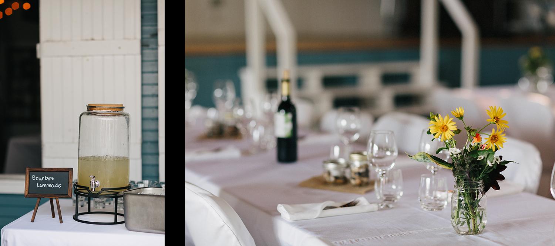 10-Toronto-Island-Wedding-Toronto-Best-Film-Wedding-Photographers-3b-photography-analog-photography-wards-island-clubhouse-junebug-weddings-vintage-venue-reception-cocktail-hour-candid-guests-mingling-details-bourbon-lemonade.jpg