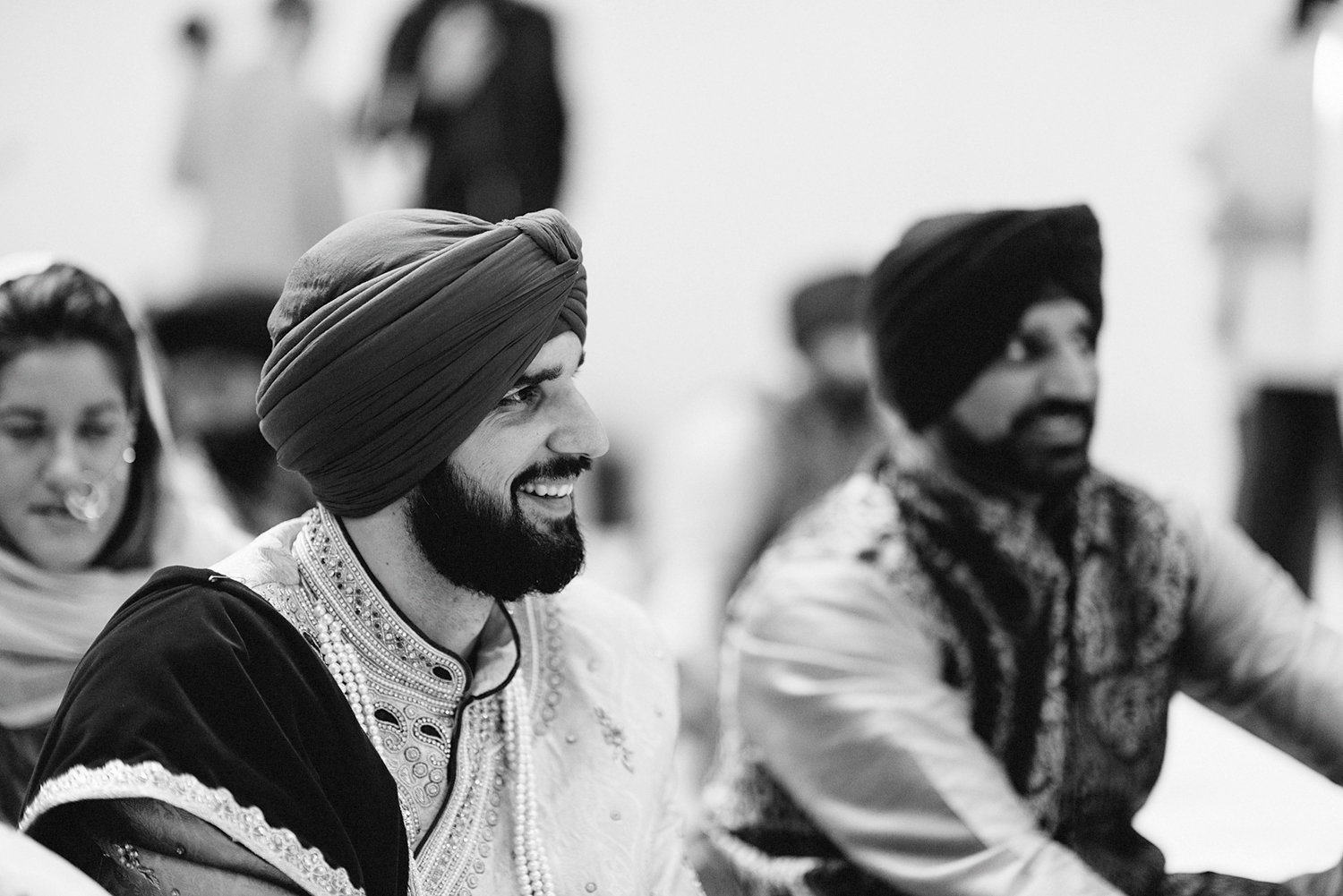 Toronto-Photojournalism-wedding-photographers-3B-Photography-Candid-Documentary-Film-Photography-Analog-Ontario-Hamilton-Port-Perry-Venue-temple-ceremony-sikh-groom-laughing.jpg