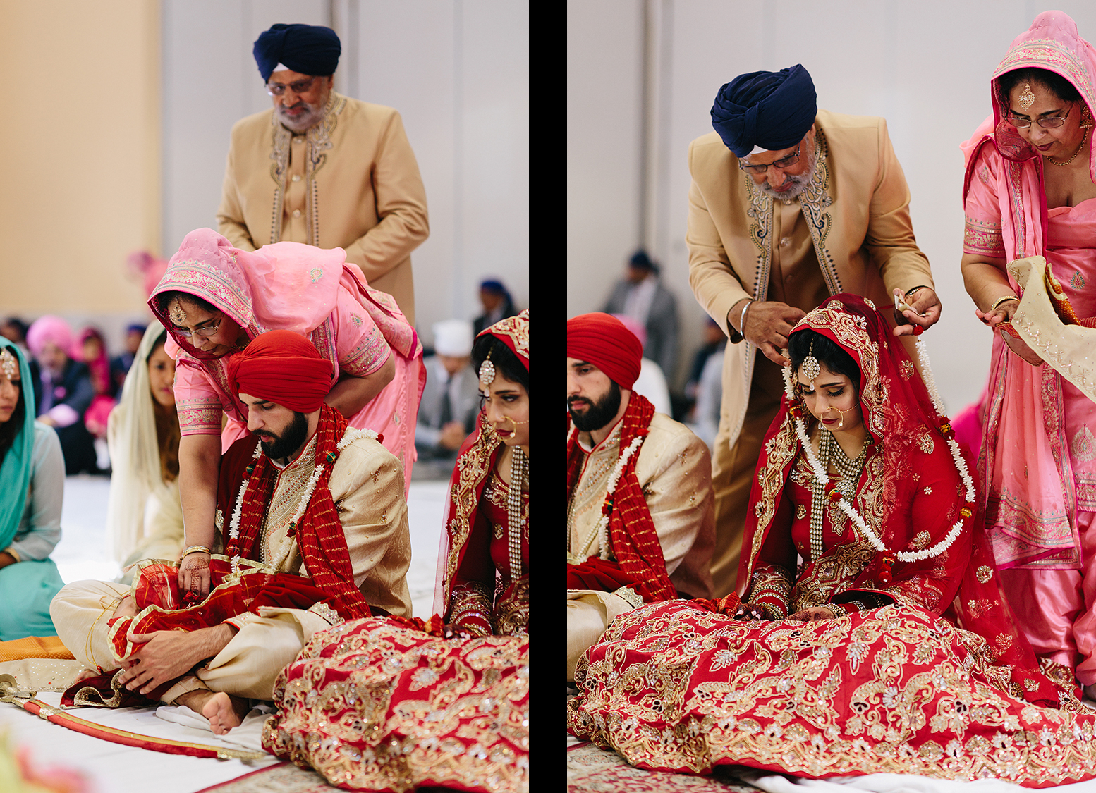 15-Toronto's-Best-Film-Wedding-Photographers-Multicultural-wedding-specialty-ontario-port-perry-ceremony-at-temple-candid-documentary-film-analog-photography-sikh-ceremony-mom-helping-bride.jpg