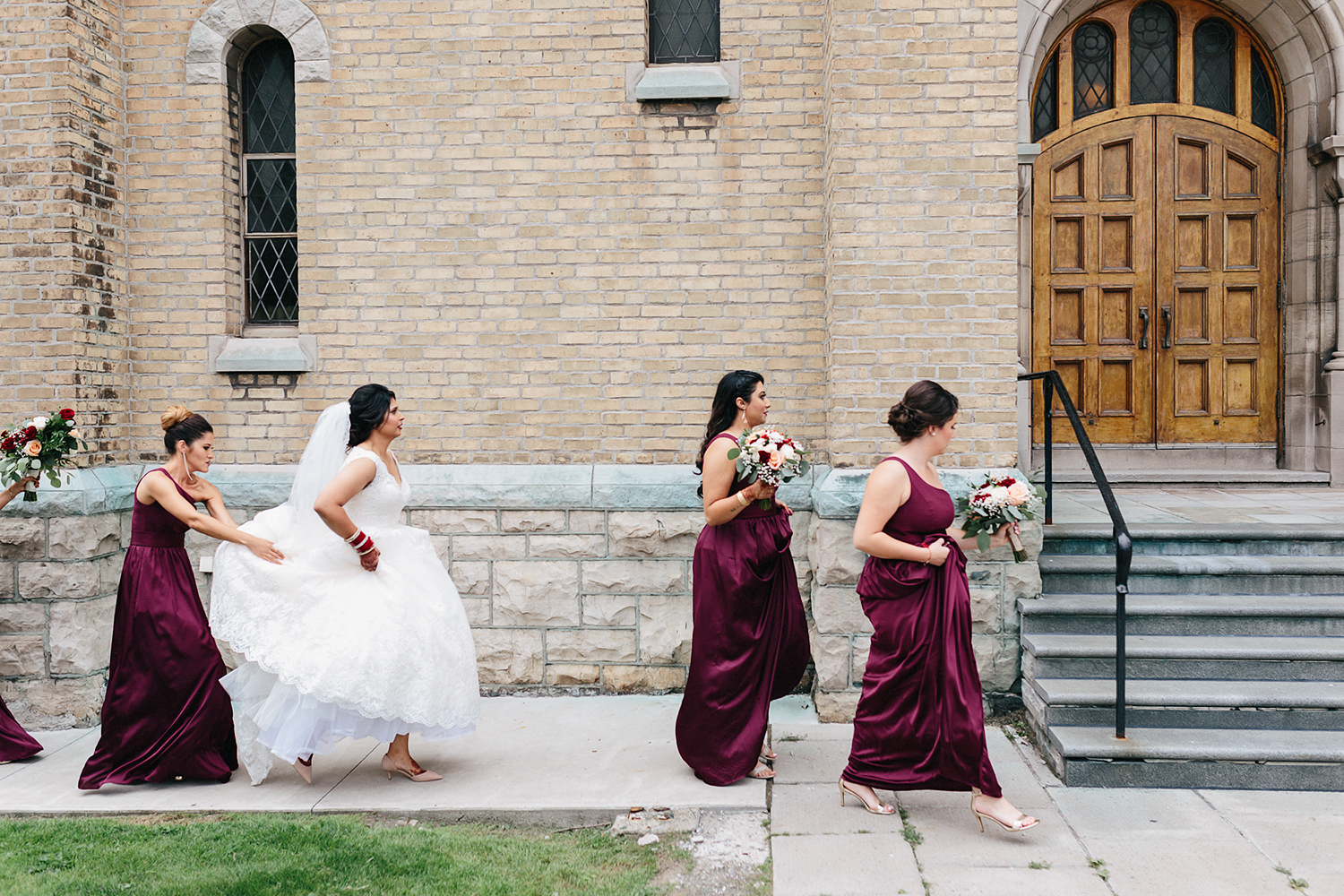 Toronto's-Best-Film-Wedding-Photography-3B-Photography-Brian-Batista-Bettencourt-Multicultural-wedding-day-two-Hamilton-Grimsby-Toronto-Wedding-candid-documentary-portrait-vintage-inspired-church-ceremony-bride-walking-in.jpg