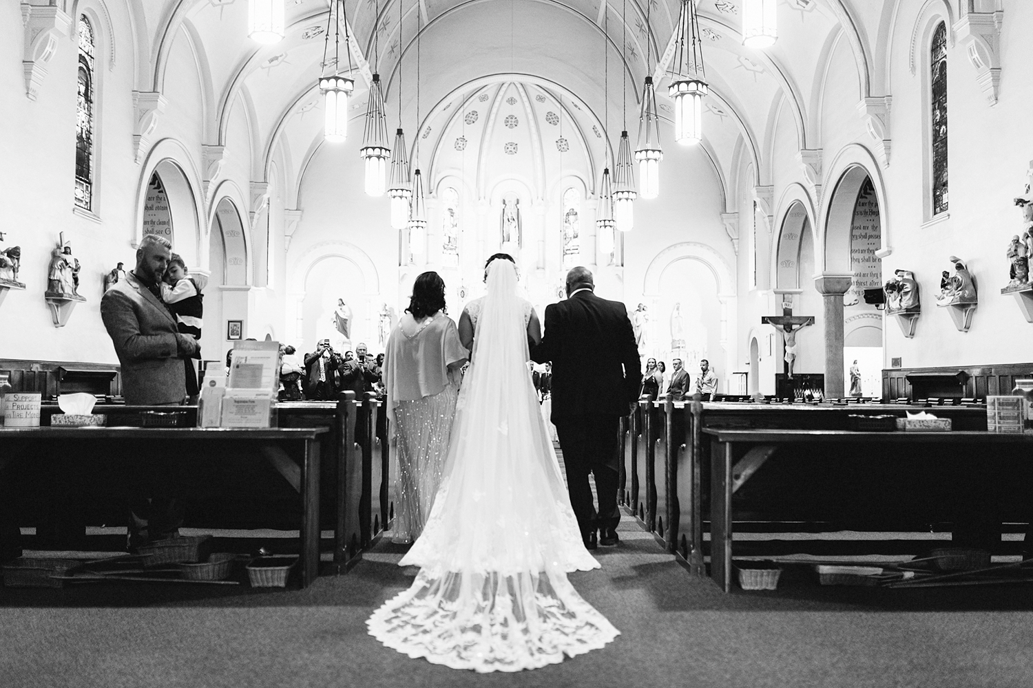 Toronto's-Best-Film-Wedding-Photography-3B-Photography-Brian-Batista-Bettencourt-Multicultural-wedding-day-two-Hamilton-Grimsby-Toronto-Wedding-candid-documentary-portrait-vintage-inspired-church-ceremony-bride-walking-down-aisle.jpg