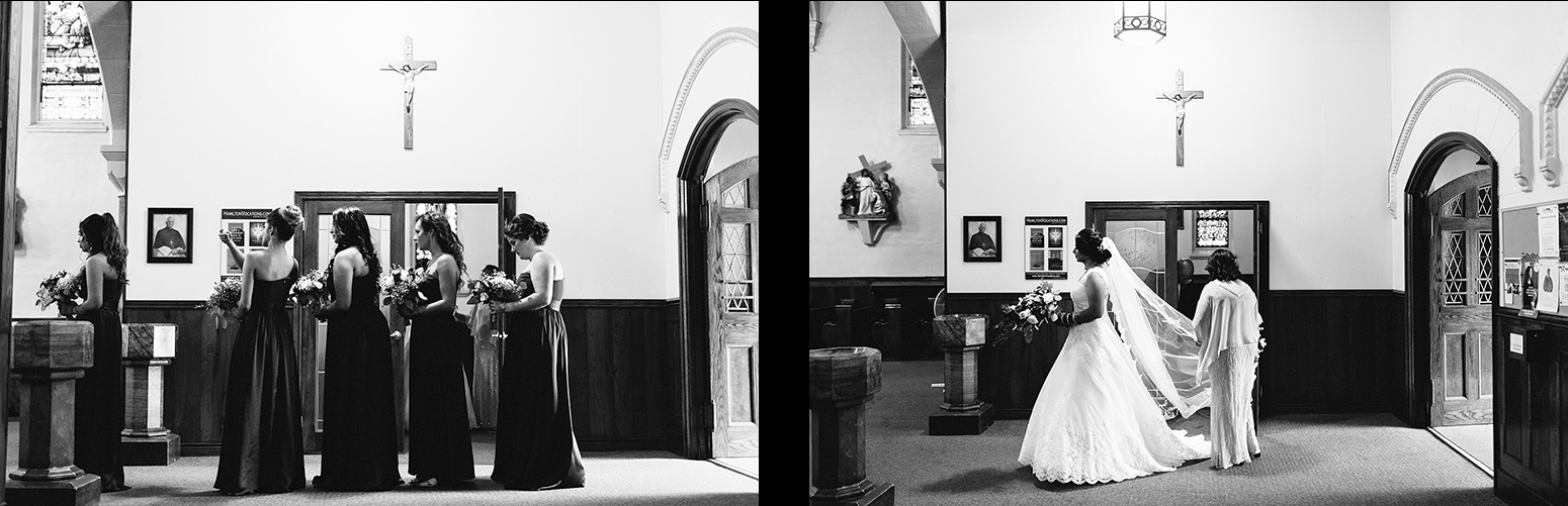 26-Toronto's-Best-Film-Wedding-Photography-3B-Photography-Brian-Batista-Bettencourt-Multicultural-wedding-day-two-Hamilton-Grimsby-Toronto-Wedding-candid-documentary-portrait-vintage-inspired-church-ceremony-bridesamids-lined-up.jpg