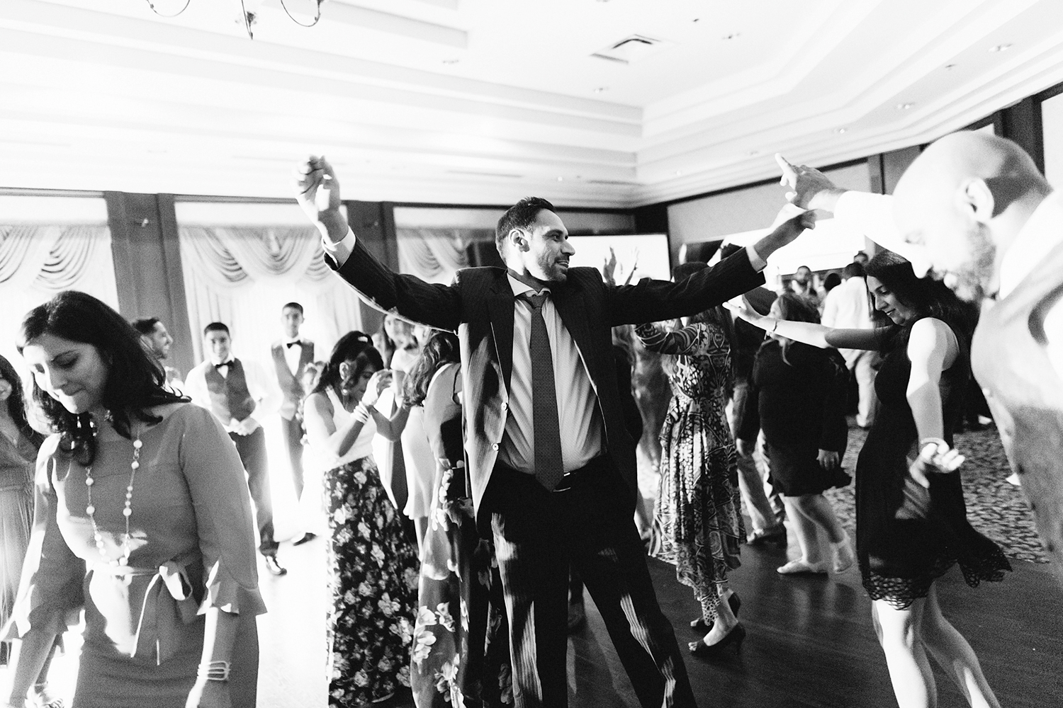 Toronto's-Best-Film-Wedding-Photography-3B-Photography-Multicultural-wedding-day-two-Hamilton-Grimsby-Toronto-Wedding-documentary-photojournalistic-photojournalism-prices-reception-guests-dancing-partying.jpg