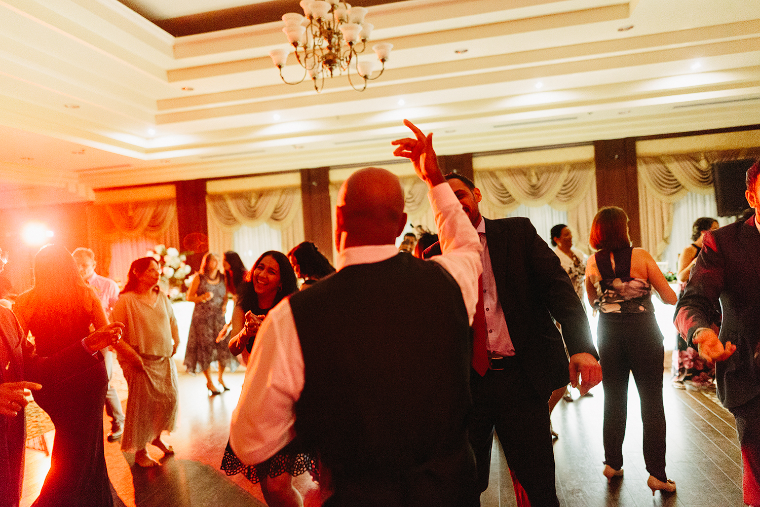 Toronto's-Best-Film-Wedding-Photography-3B-Photography-Multicultural-wedding-day-two-Hamilton-Grimsby-Toronto-Wedding-documentary-photojournalistic-photojournalism-prices-reception-guests-dancing-COLOURFUL.jpg