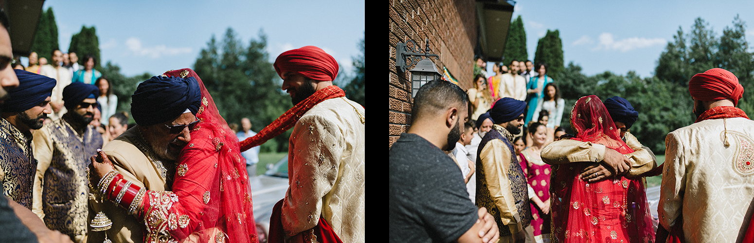 35-Toronto-Photojournalism-wedding-photographers-3B-Photography-Candid-Documentary-Film-Photography-Analog-Ontario-Hamilton-Port-Perry-Venue-Groom-Getting-Ready-putting-on-turban-sikh-ceremony-emotional-father-crying-as-bride-leaves-home.jpg
