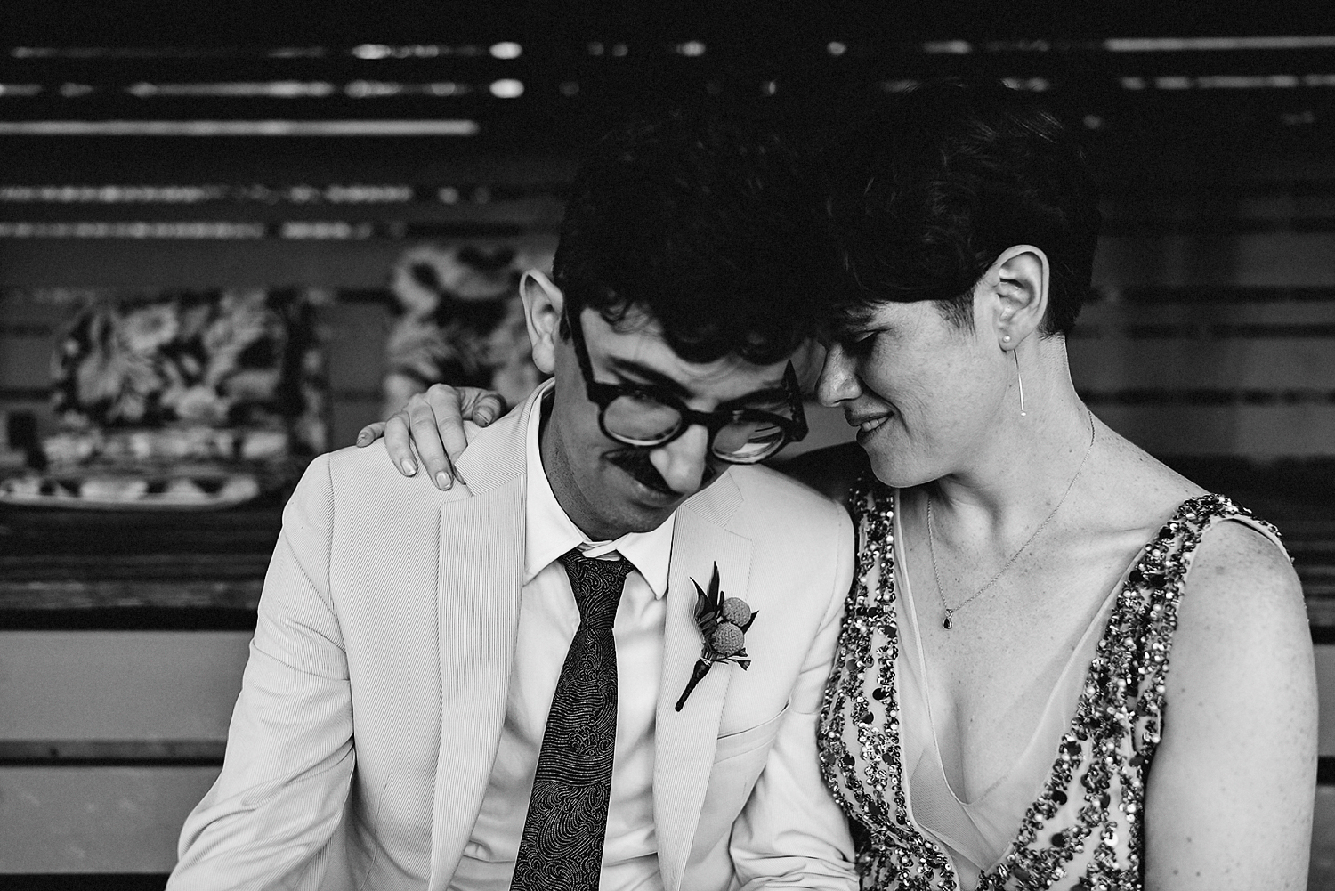 Best-Wedding-Photographers-in-Toronto-with-Photojournalistic-Documentary-Style-3B-Photography-Brian-Batista-Bettencourt-Intimate-Vintage-Wedding-at-Toronto-Island-Cafe-Clubhouse-Sunset-portraits-on-Tennis-Court-BW.jpg