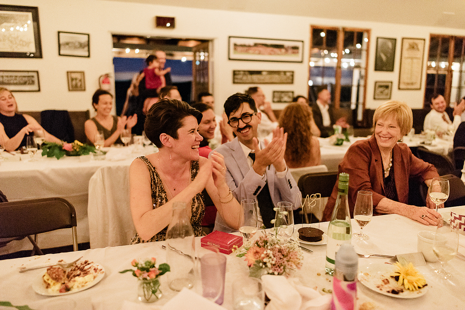 Best-Wedding-Photographers-in-Toronto-with-Photojournalistic-Documentary-Style-3B-Photography-Brian-Batista-Bettencourt-Intimate-Vintage-Wedding-at-Toronto-Island-Cafe-Clubhouse-Reception-First-Dance-moment-Reaction.jpg
