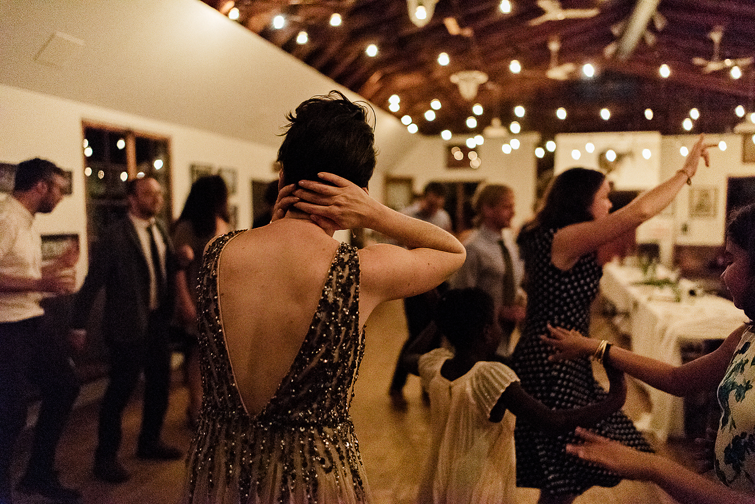 Best-Wedding-Photographers-in-Toronto-with-Photojournalistic-Documentary-Style-3B-Photography-Brian-Batista-Bettencourt-Intimate-Vintage-Wedding-at-Toronto-Island-Cafe-Clubhouse-Reception-Bride-Dancing.jpg
