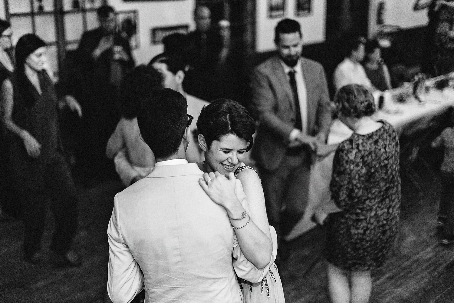 Best-Wedding-Photographers-Toronto-with-documentary-style-photojournalistic-wedding-photographer-editorial-cool-hip-timeless-Intimate-Toronto-Island-Cafe-Clubhouse-Wedding--Bride-Dancing-Hard-Analog-Film-Couple-Dancing.jpg