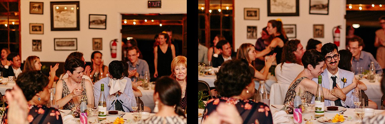 BEst-analog-film-photographers-toronto-Wedding-Photography-shot-on-kodak-film-intimate-toronto-island-cafe-wedding-reception-vintage-venues-bride-and-groom-partying-crying.jpg