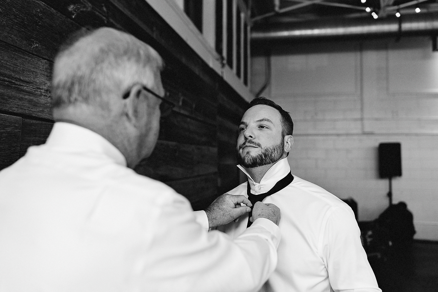 Toronto-Wedding-Photographers-3B-Photography-Airship37-Wedding-Photos-Documentary-Photojournalistic-Wedding-Photography-Venue-Details-Father-of-the-bride-helping-groom-with-tie.jpg