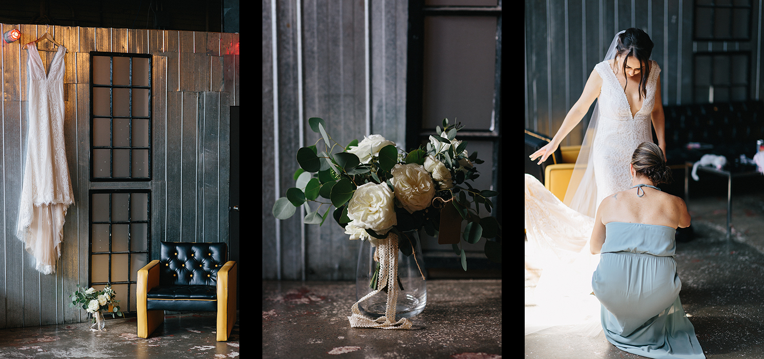 1-Best-Venues-in-Toronto-Airship-37-Berkley-Events-Urban-Boho-Trendy-Cool-Hipster-Event-Space-Toronto-Wedding-Photographers-3B-Photography-bride-getting-ready-vintage-lace-wedding-dress-white-flowers.jpg