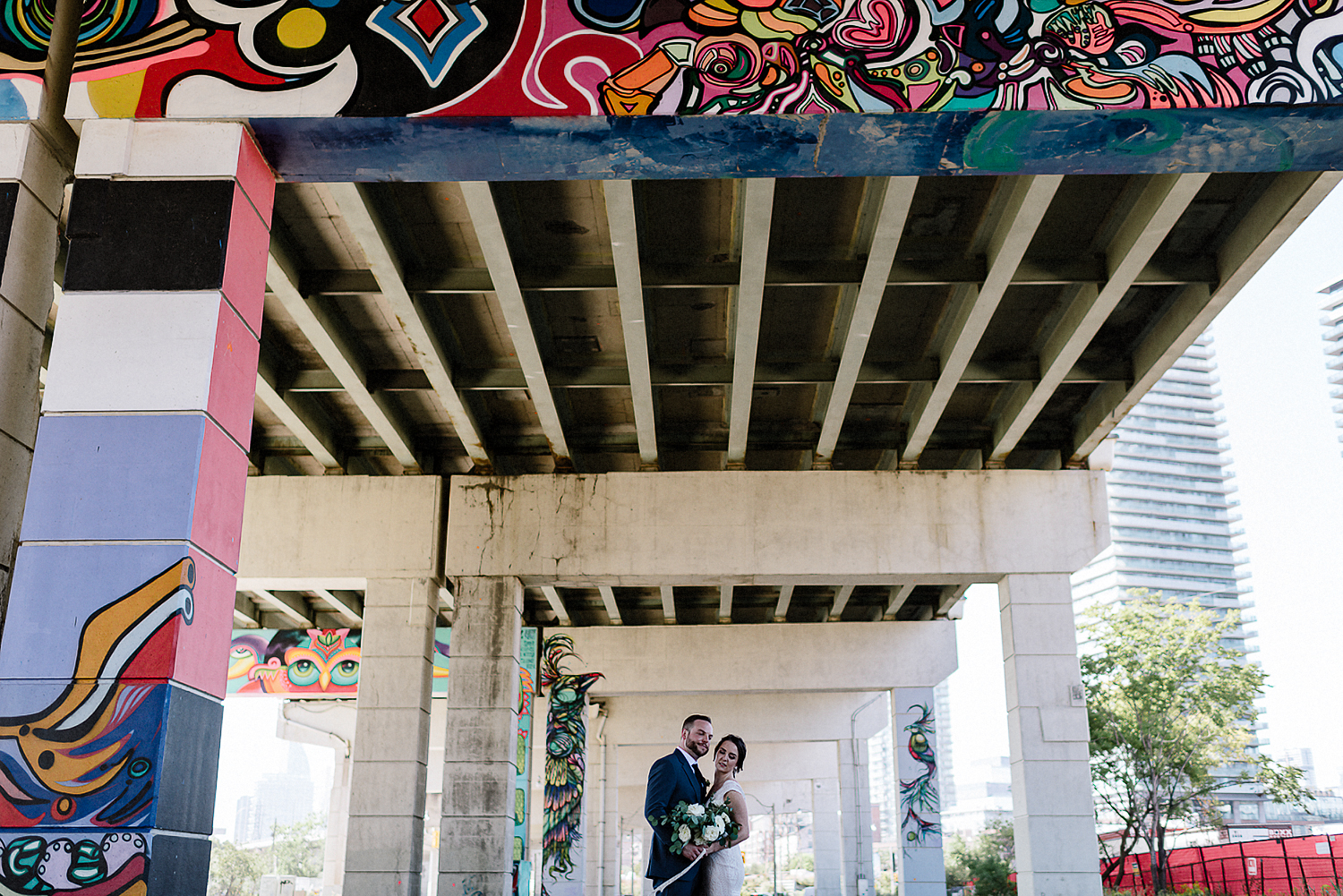 Best-Wedding-Photographers-Toronto-3B-photography-Photojournalistic-documentary-wedding-photography-alternative-cinematic-mood-bride-and-groom-underpass.jpg