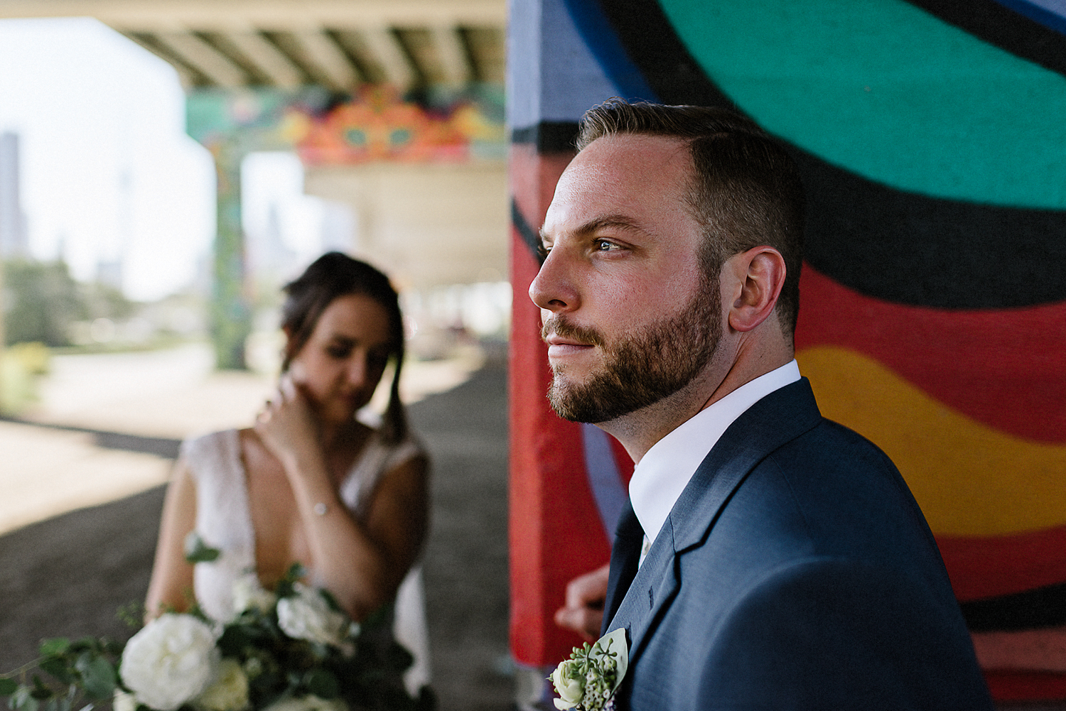 Intimate-Toronto-Pop-Up-Elopement-Downtown-Urban-film-analog-photography-toronto-wedding-photographers-alternative-hipster-bride-and-groom-badass-ceremony-groom-waiting.jpg