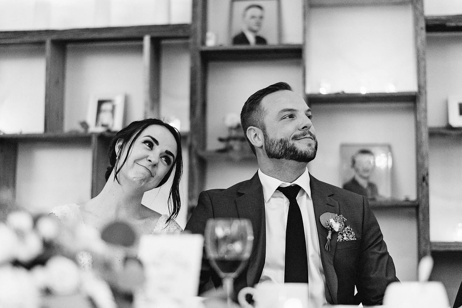 Best-Wedding-photographers-Toronto-NAtural-Candid-wedding-photography-Airship37-Sunset-Portrait-bride-and-veil-sunset-golden-light-toronto-skyline-portraits-candid-intimate-wedding-moment-speeches-groom-reaction.jpg