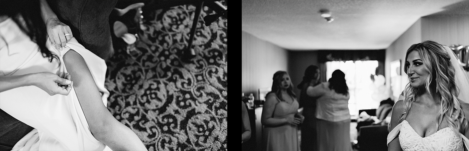 Dowswell-Barn-Wedding-Farm-Wedding-Getting-Ready-Bride-and-sister-mirror-portrait-BW.jpg