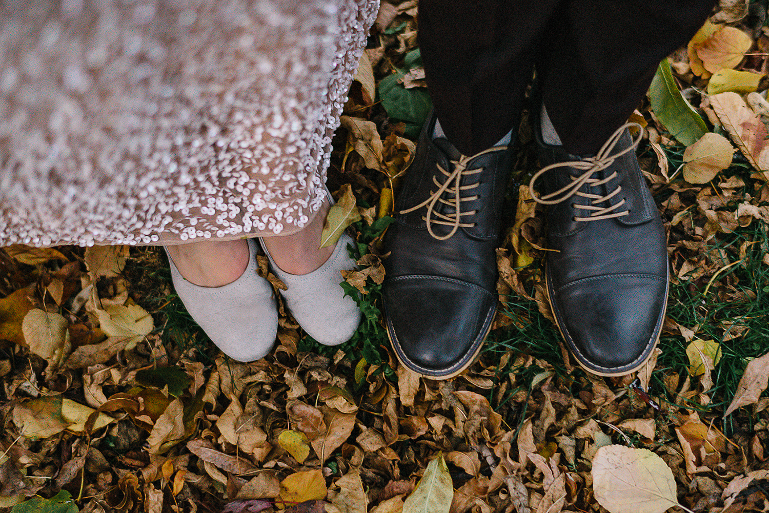 40-Best-Elopement-Photographers-Toronto-Fall-Wedding-Elopement-Modern-Vintage-Hipster-Beautiful-Groom-and-Bride-Shoes-in-Leaves.JPG