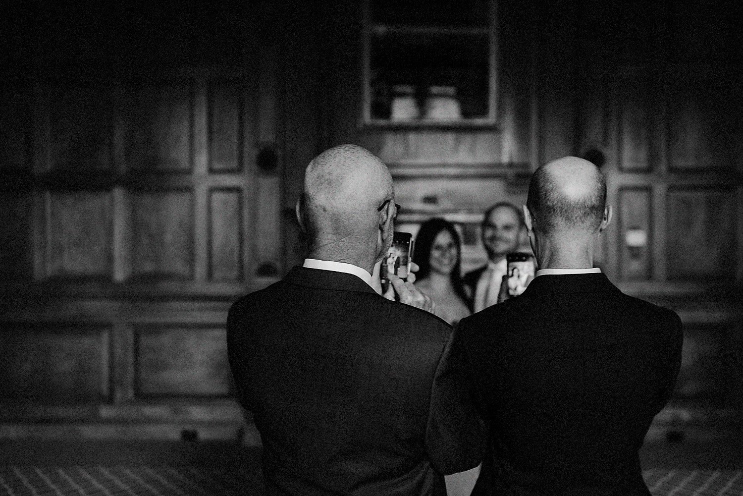 16-One-King-West-Elopement-Wedding-INtimate-Candid-Moment-Bride-and-groom-with-family.jpg