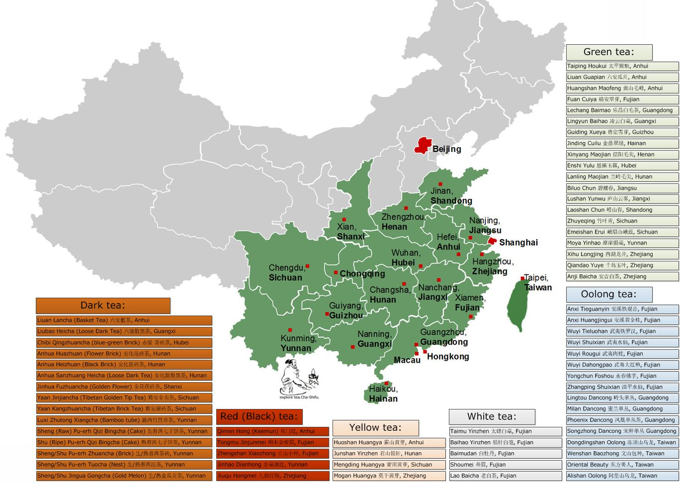 map tea plant Camellia sinensis found in Southwest China, Yunnan province and its neighboring regions of Northeast Myanmar as well as Indias Assam region, Camellia sinens.jpg