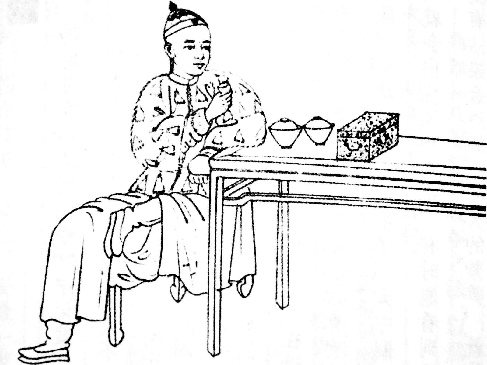 enjoy mature pu-erh tea at an authentic tea table by shopping cha-shifu.com