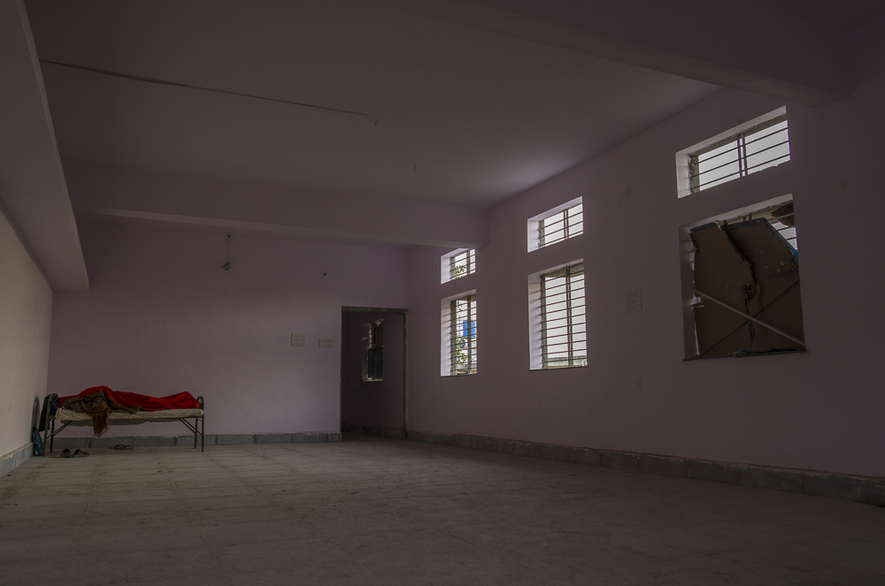 Recovery Ward.   No windows, doors, electricity, running water or insulation.